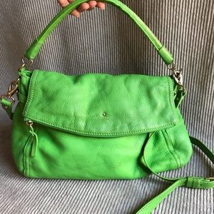 KATE SPADE lime green bag pebbled leather purse
